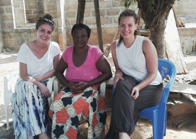 Caro & Charlottee volunteer with mamacareghana for 3 months, German midwives
